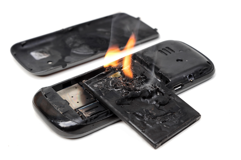 bateria quemada smartphone